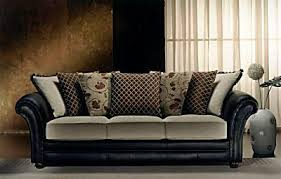 Leather And Upholstered Sofa Sofa Design Ideas Cloth Leather Or Fabric Sofa With Impressive