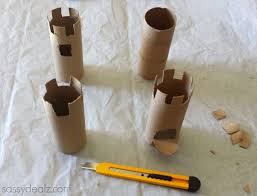 toilet paper roll castles craft idea for kids crafty morning