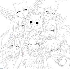 fairy tail coloring pages anime coloring page for kids with