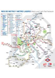 Metro Map Madrid by Madrid Metro The College Tourist
