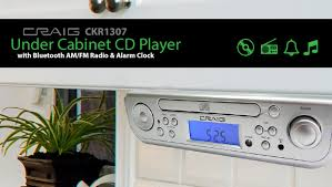 under cabinet radio bluetooth under cabinet cd player with bluetooth am fm radio alarm clock