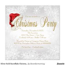 silver gold snowflake christmas party card christmas parties