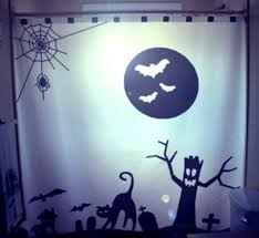 Kids Bathroom Shower Curtain Scene Halloween Shower Curtain Kids Bathroom Decor Halloween