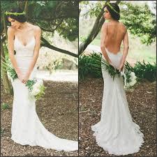 open back wedding dresses 2018 cheap custom open back lace popular new arrival