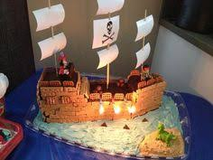 yes we eat it the pirate ship cake is exciting to make but