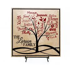 custom family tree sign personalized with names family names