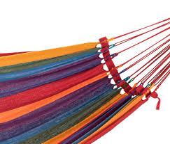 Brazillian Hammocks Medium Bright Multi Coloured Canvas Hammock Heavenly Hammocks
