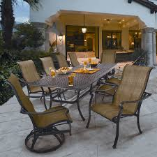 Patio Dining Chairs Clearance Amusing Saratoga 11 Sling Patio Dining Collection At Outdoor