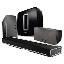 wireless surround sound home theater systems sonos playbar play 3 and sub 5 1 wireless cinema bundle at