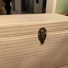 Wicker Storage Bench Best White Wicker Storage Bench For Sale In Pensacola Florida For