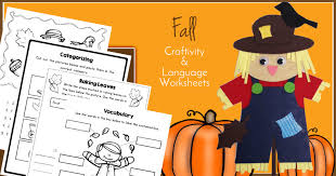fall speech therapy activities craftivity u0026 language worksheets