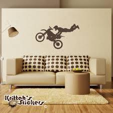 motocross superman vinyl wall decal motocross superman