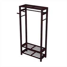 Entryway Organizer Wood Coat Shoe Garment Rack Hat Stand For Hallway Or Entryway