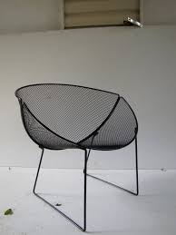 Mesh Patio Furniture Vintage Outdoor Wire Chairs Home Chair Decoration