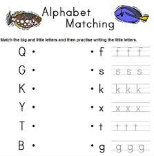 alphabet matching worksheet worksheets
