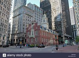 the old state house site of the boston massacre boston stock