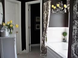 bathroom interior pc gray yellow white chevron fabric shower