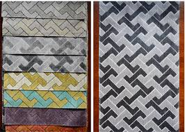 Polyester Upholstery Geometrical Design Polyester Upholstery Fabric For Tablecloth