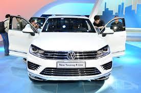 touareg volkswagen 2014 2015 vw touareg front at auto china indian autos blog