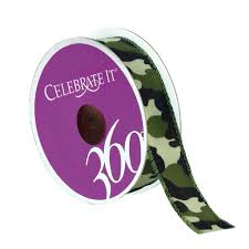 camouflage ribbon 7 8 woven wired camouflage ribbon by celebrate it 360