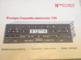becker europa 730 radio cassette player evolution gt