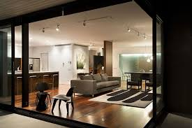 exclusive home interiors spacious open floor living room and kitchen in the new zealand