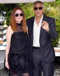 george clooney joins julianne moore at venice film fest daily