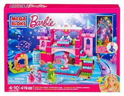 amazon com mega bloks barbie u0027s underwater castle toys u0026 games