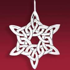 celtic snowflake ornament celtic knot and hammer