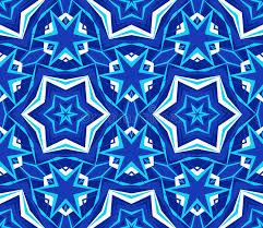 blue kaleidoscope wallpaper kaleidoscope bright blue star background stock vector illustration