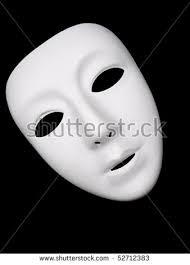 plain mask plain white mask drama stock photo 52712383