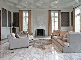 custom home animal skin rug ceiling wallpaper mansion coffered