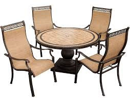 5 Pc Patio Dining Set Outdoor Sling Chairs And Monaco Monaco5pc 5 Outdoor
