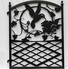 ornamental hummingbird iron garden gate modern iron works