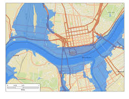 Map Of Cincinnati 1937 Ohio River Flood Downtown