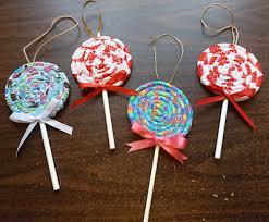 fabric lolipop ornaments tree decorations use scraps of a