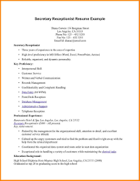 Sample Resume Of Receptionist by Receptionist Job Resume Free Resume Example And Writing Download