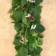 fresh winter garland fragrant decor w tallow berries cedar