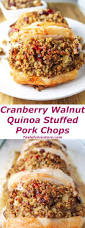 thanksgiving quinoa recipes cranberry walnut quinoa stuffed pork chops tastefulventure