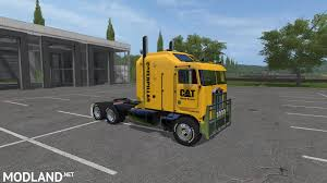 wooden kenworth truck cat kenworth k100 and trailer v 1 1 mod farming simulator 17
