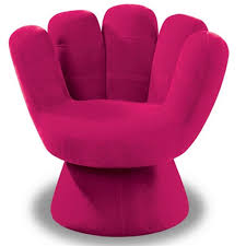 outstanding contemporary pink armchair design
