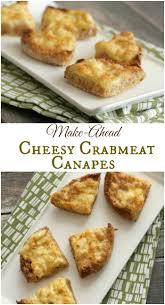 freeze ahead canapes recipes cheesy crabmeat canapes ahead
