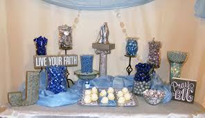 communion ideas communion boy party ideas light blue grey theme