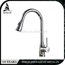 cheap long neck retractable kitchen sink faucet pull out down