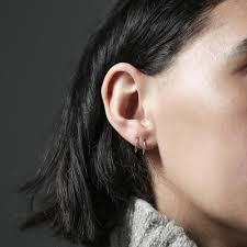 whisper earrings whispering hoop earrings in sterling silver maison miru jewelry