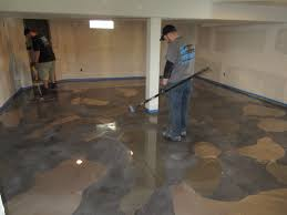 Diy Basement Flooring Awesome Epoxy Floor Basement About Diy Basement Floor Epoxy On