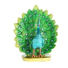 online shop colorful resin peacock shaped gorgeous glitter feather
