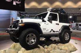 white jeep 2018 mopar factory customized 2018 jeep wranglers at la auto show photo