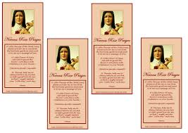 Prayer To St Therese The Little Flower - new u2013 free prayer cards ukok u0027s place