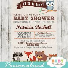 woodland baby shower invitations woodland baby shower invitation d137 baby printables